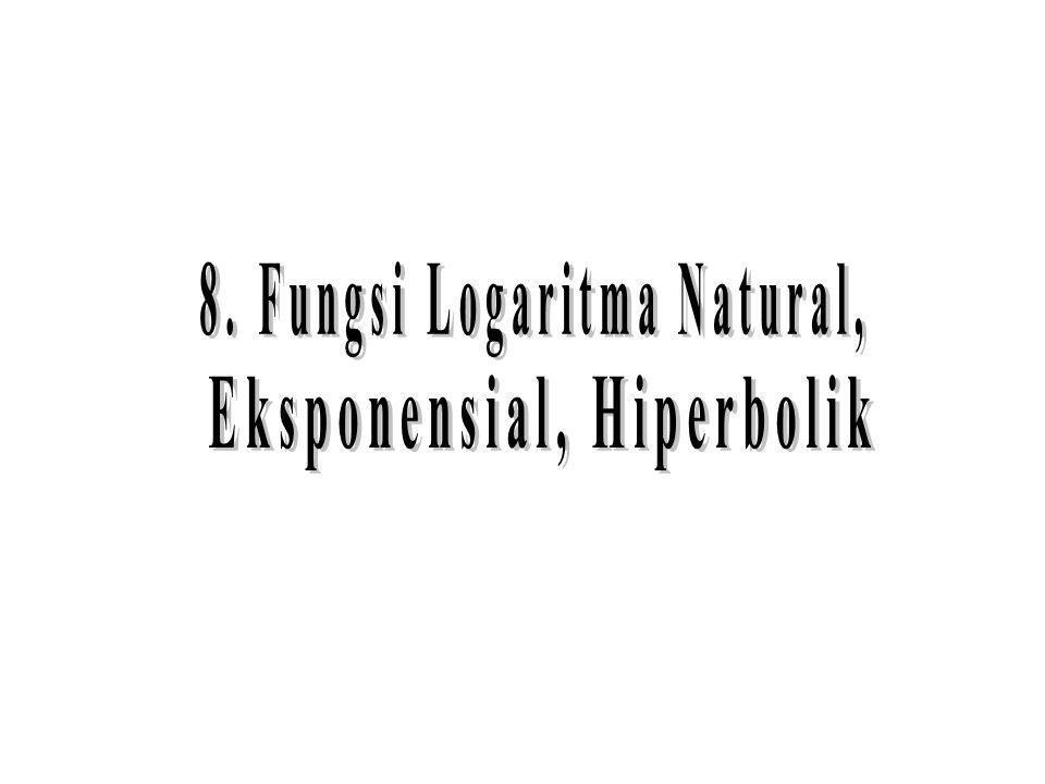 8. Fungsi Logaritma Natural, Eksponensial, Hiperbolik