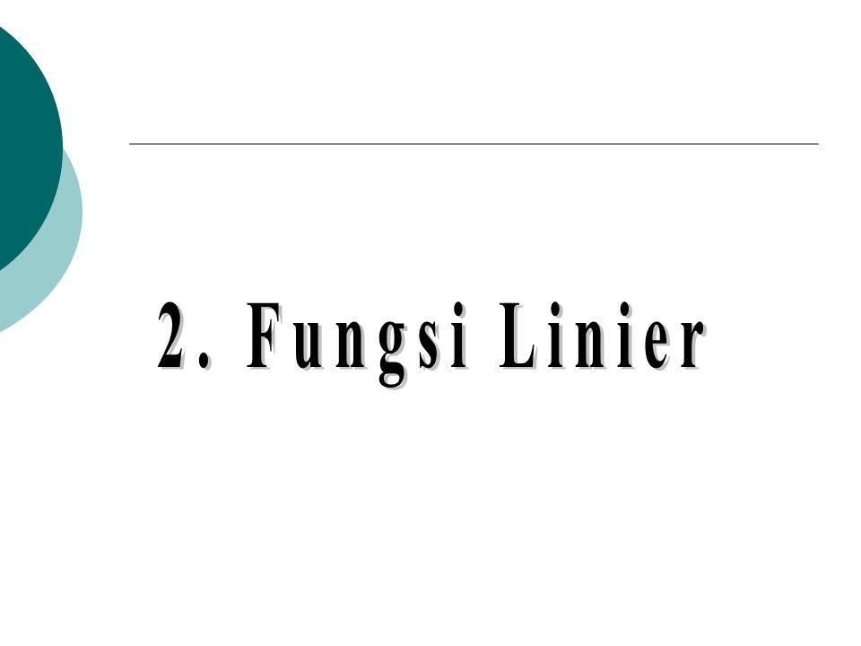 2. Fungsi Linier
