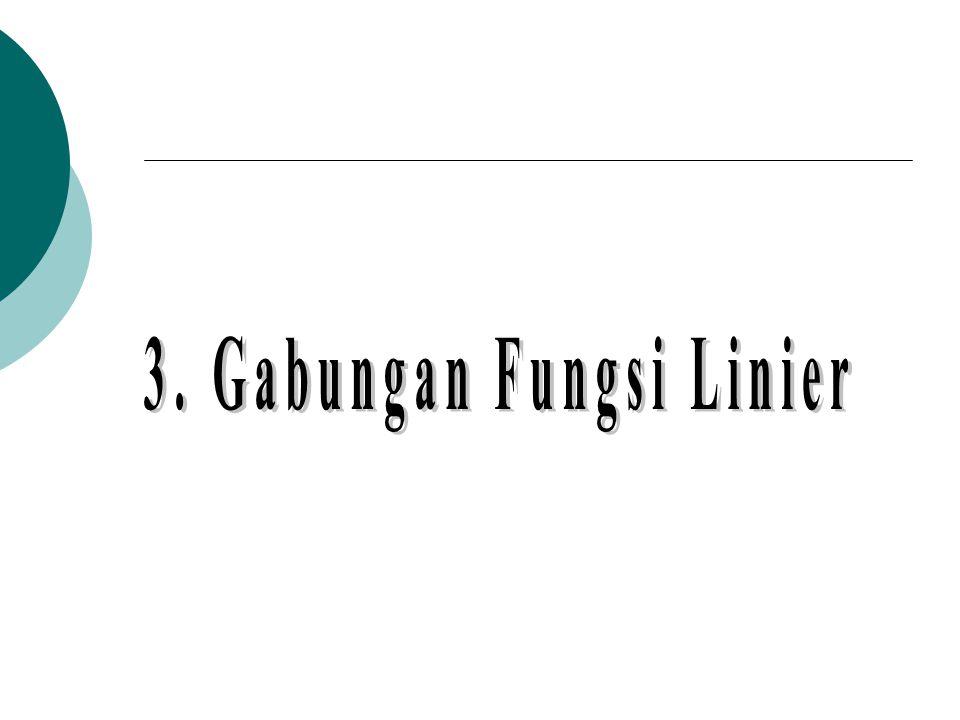 3. Gabungan Fungsi Linier