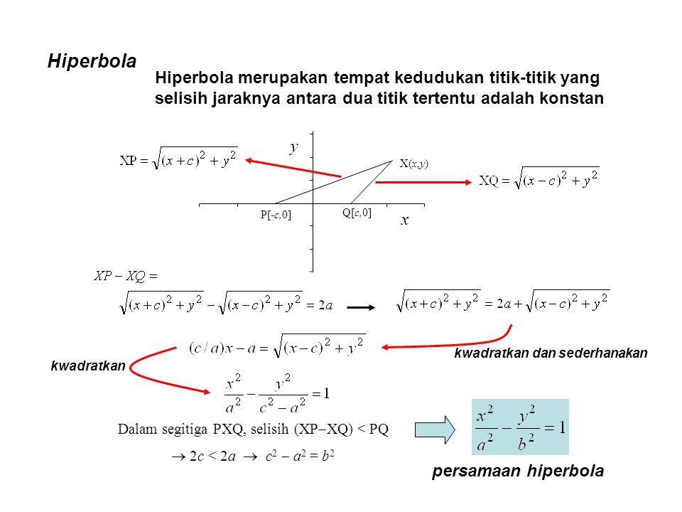 Dalam segitiga PXQ, selisih (XPXQ) < PQ