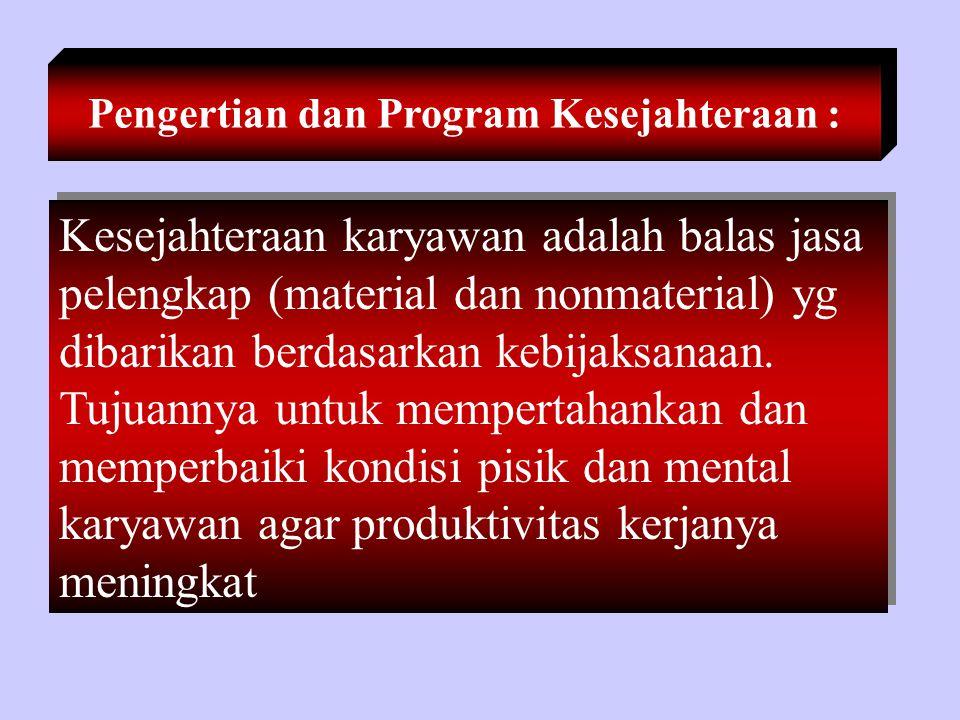 Pengertian dan Program Kesejahteraan :