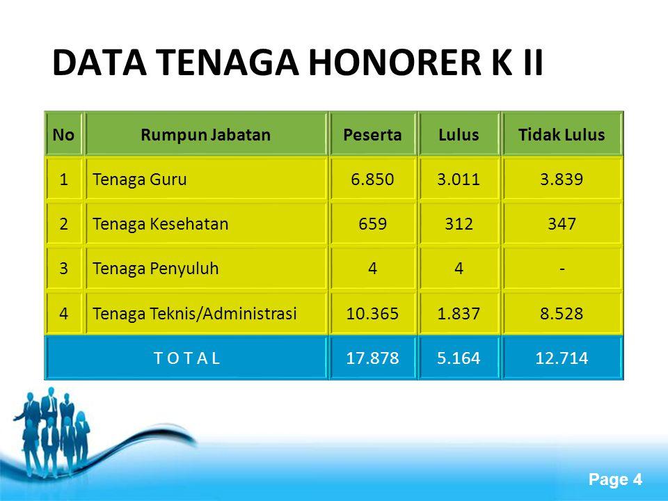 DATA TENAGA HONORER K II