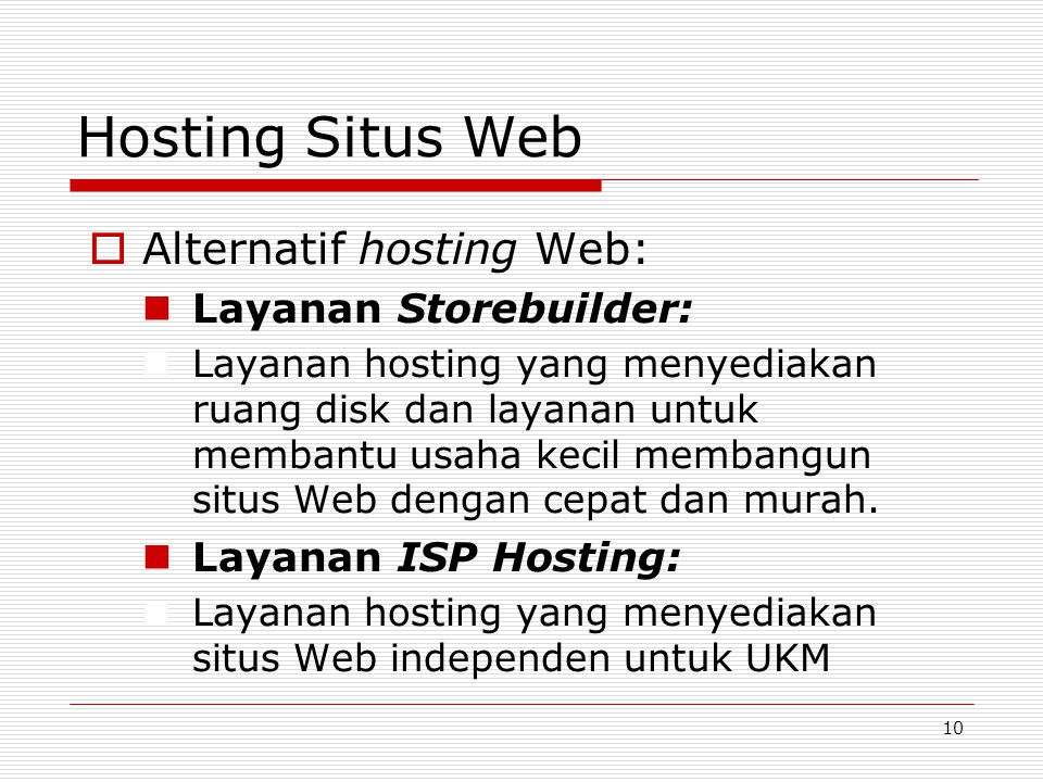 Hosting Situs Web Alternatif hosting Web: Layanan Storebuilder: