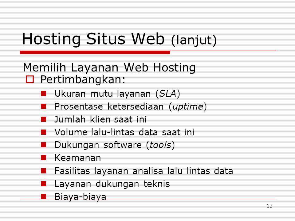Hosting Situs Web (lanjut)