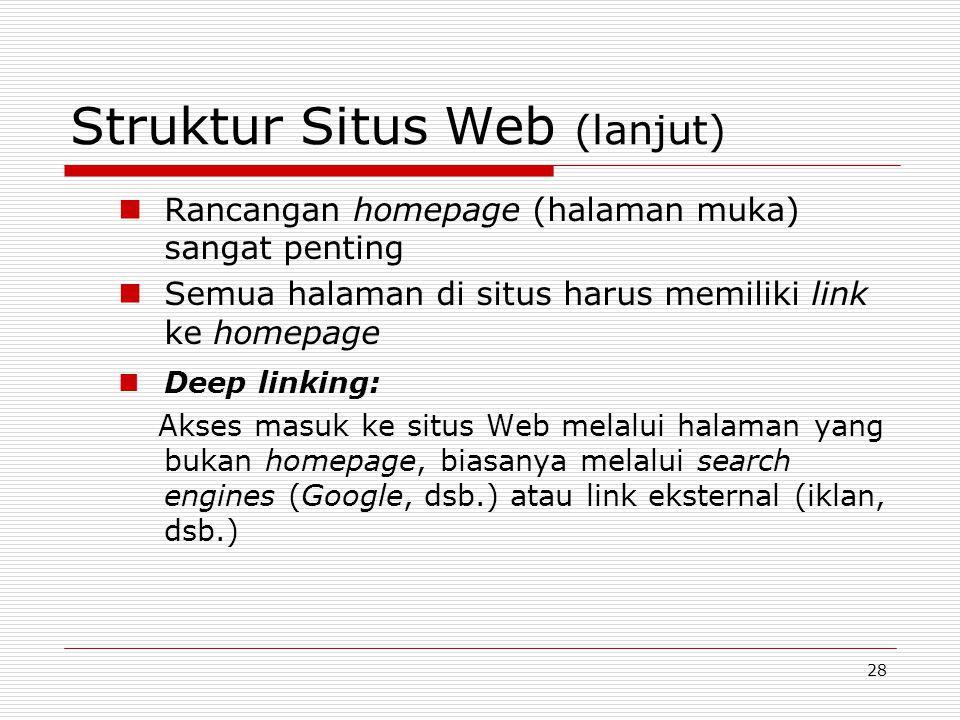 Struktur Situs Web (lanjut)