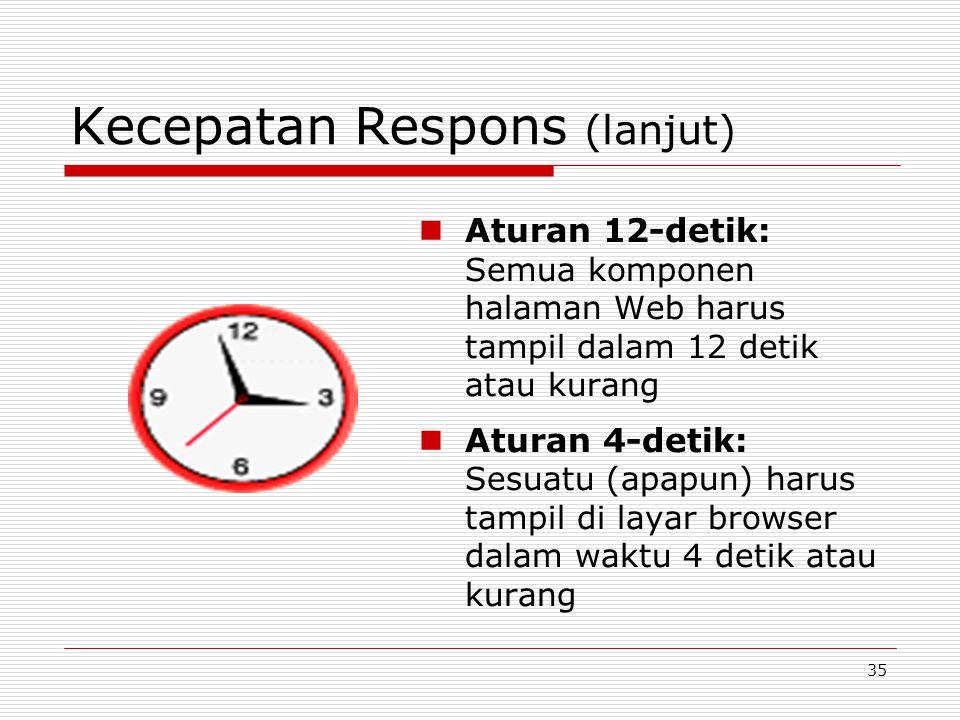 Kecepatan Respons (lanjut)