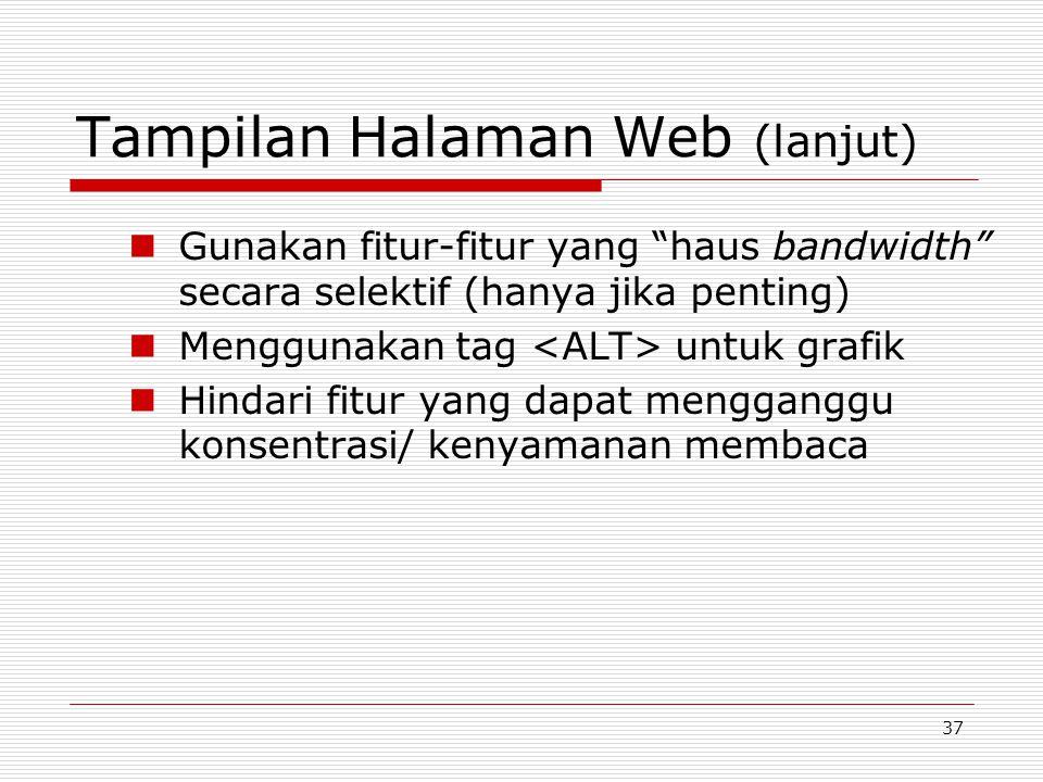 Tampilan Halaman Web (lanjut)