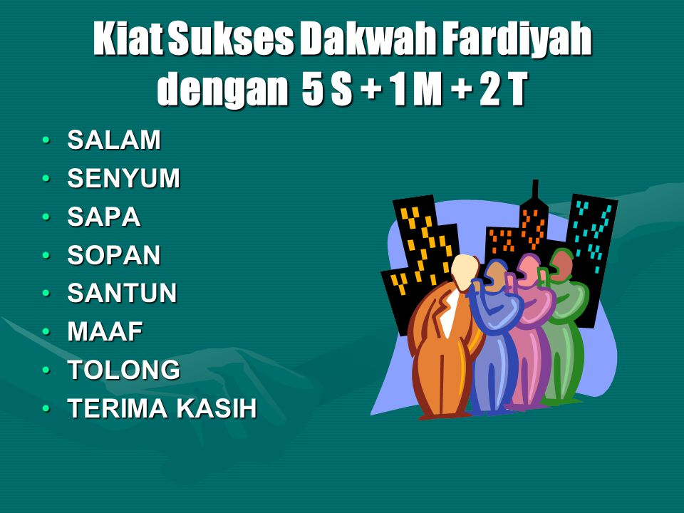 Kiat Sukses Dakwah Fardiyah dengan 5 S + 1 M + 2 T