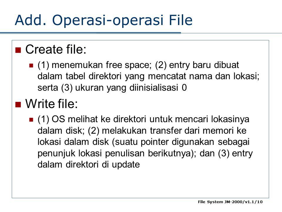 Add. Operasi-operasi File