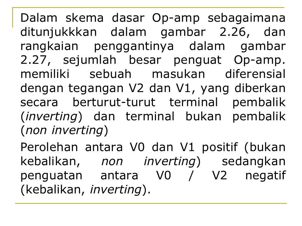 Dalam skema dasar Op-amp sebagaimana ditunjukkkan dalam gambar 2