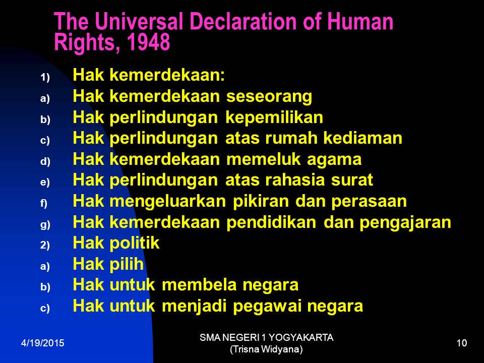 The Universal Declaration of Human Rights, 1948