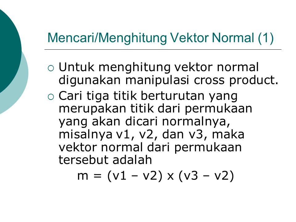 Mencari/Menghitung Vektor Normal (1)