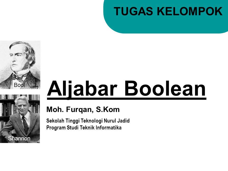 Aljabar Boolean TUGAS KELOMPOK Moh. Furqan, S.Kom Bool