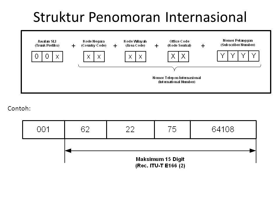 Struktur Penomoran Internasional