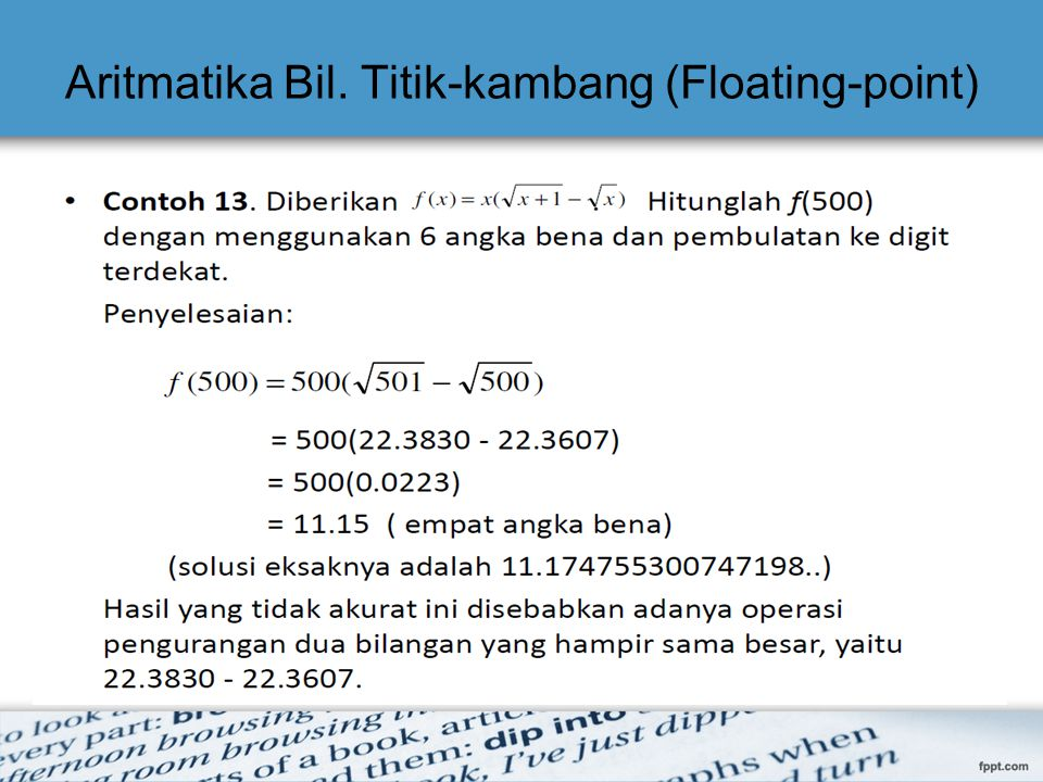 Aritmatika Bil. Titik-kambang (Floating-point)