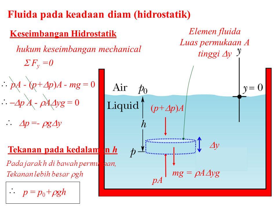 Fluida pada keadaan diam (hidrostatik)