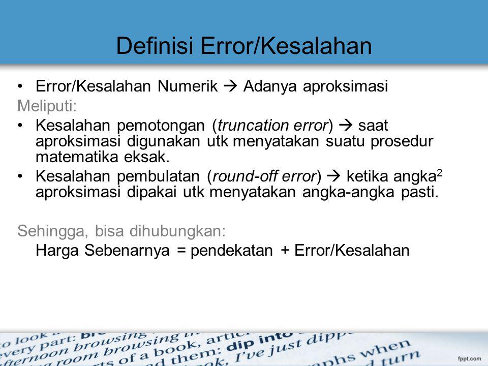 Definisi Error/Kesalahan