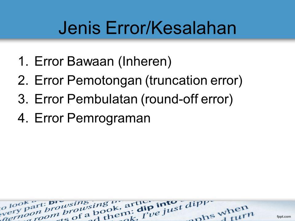 Jenis Error/Kesalahan