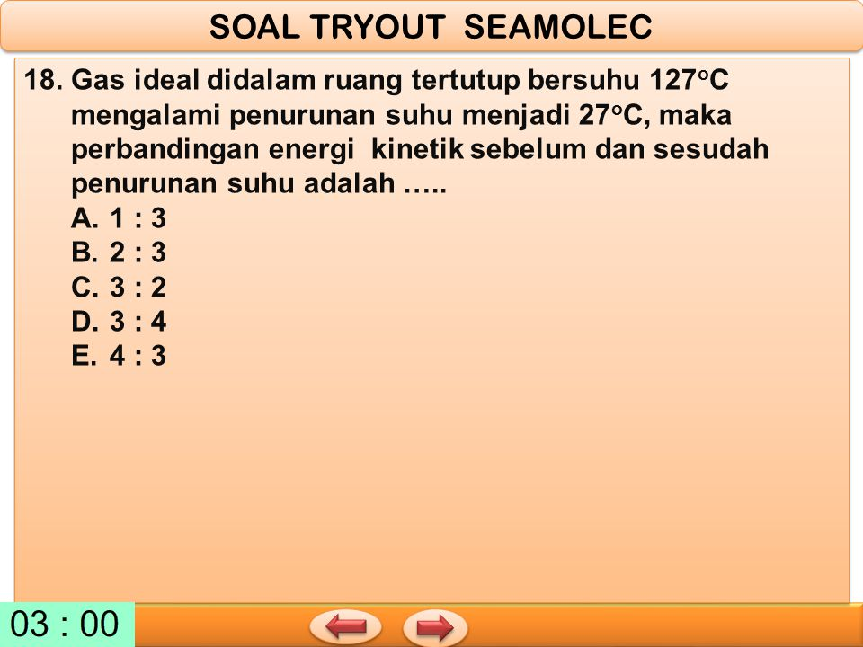 SOAL TRYOUT SEAMOLEC