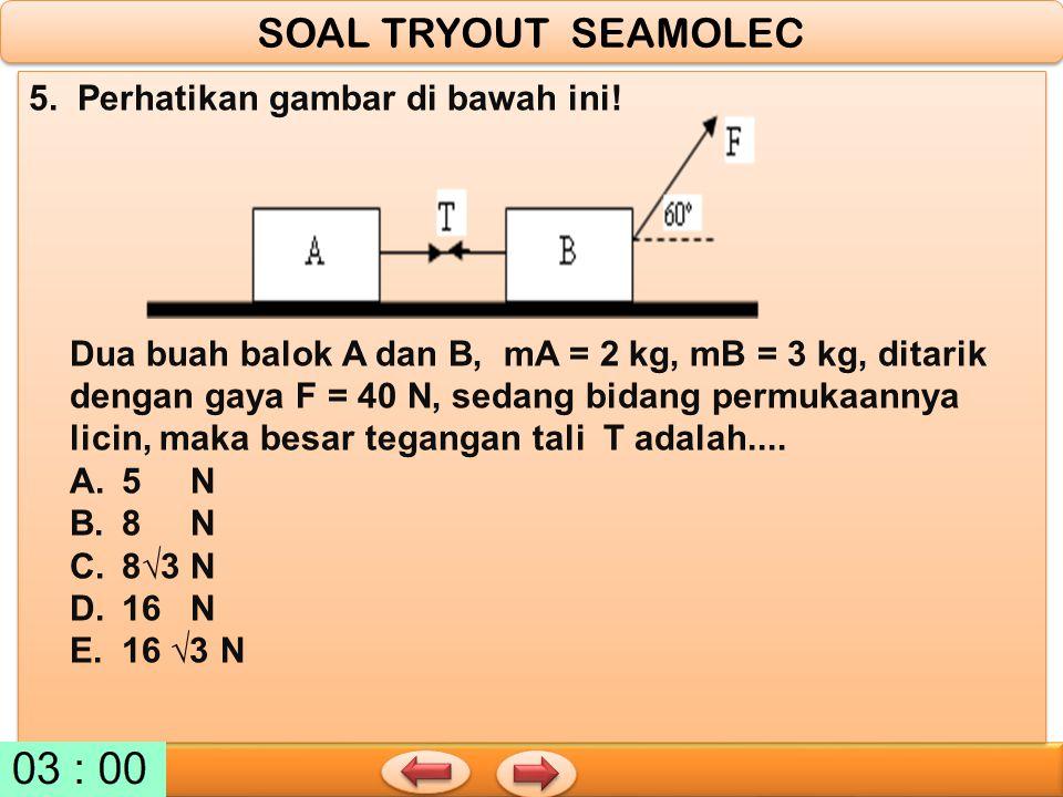 SOAL TRYOUT SEAMOLEC 5. Perhatikan gambar di bawah ini!