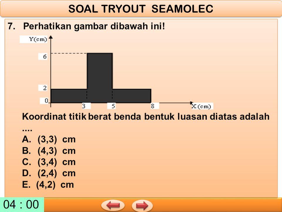 SOAL TRYOUT SEAMOLEC 7. Perhatikan gambar dibawah ini!