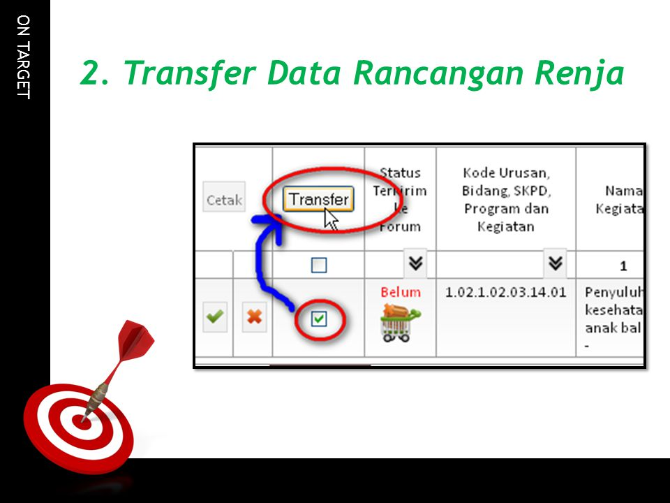 2. Transfer Data Rancangan Renja