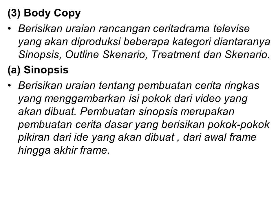 (3) Body Copy