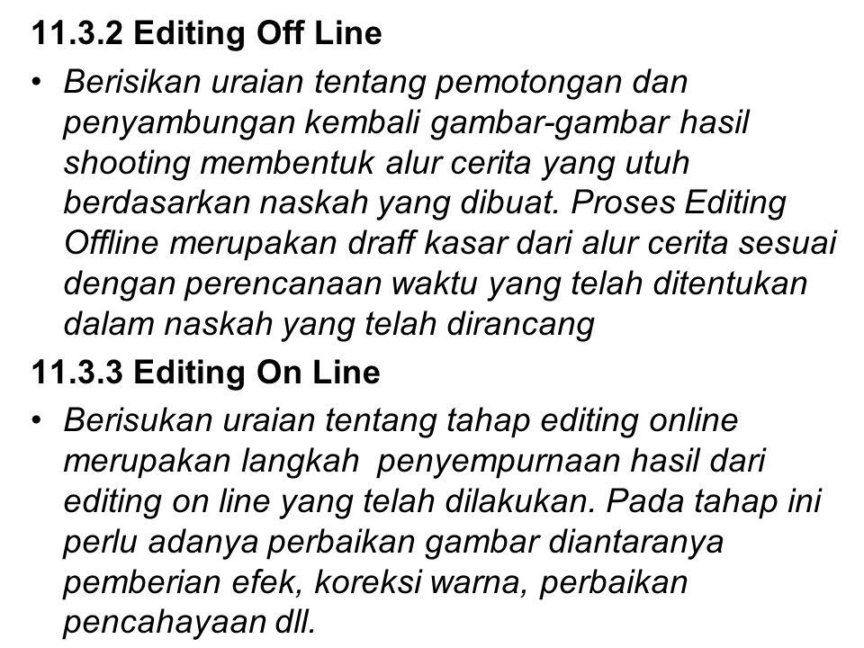 11.3.2 Editing Off Line