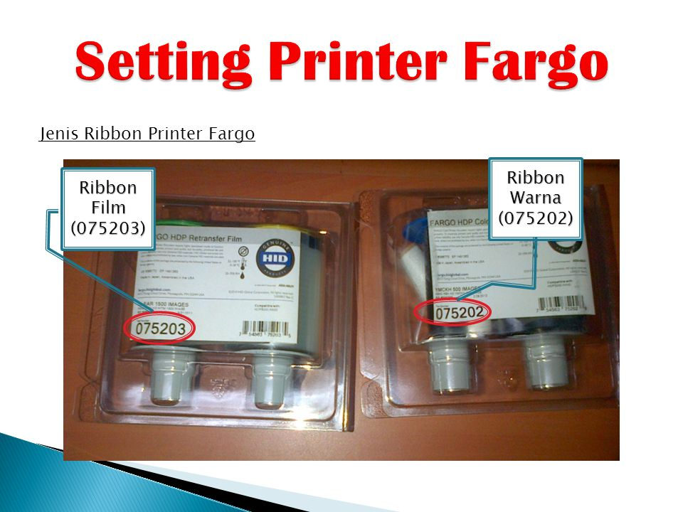 Setting Printer Fargo Jenis Ribbon Printer Fargo Ribbon Warna (075202)