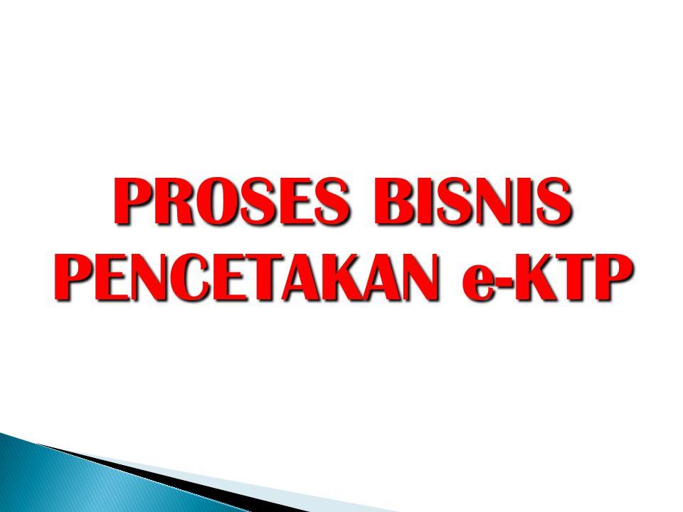 PROSES BISNIS PENCETAKAN e-KTP