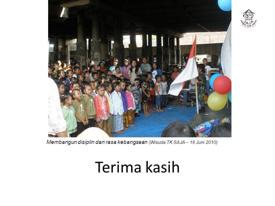 Membangun disiplin dan rasa kebangsaan (Wisuda TK SAJA – 19 Juni 2010)