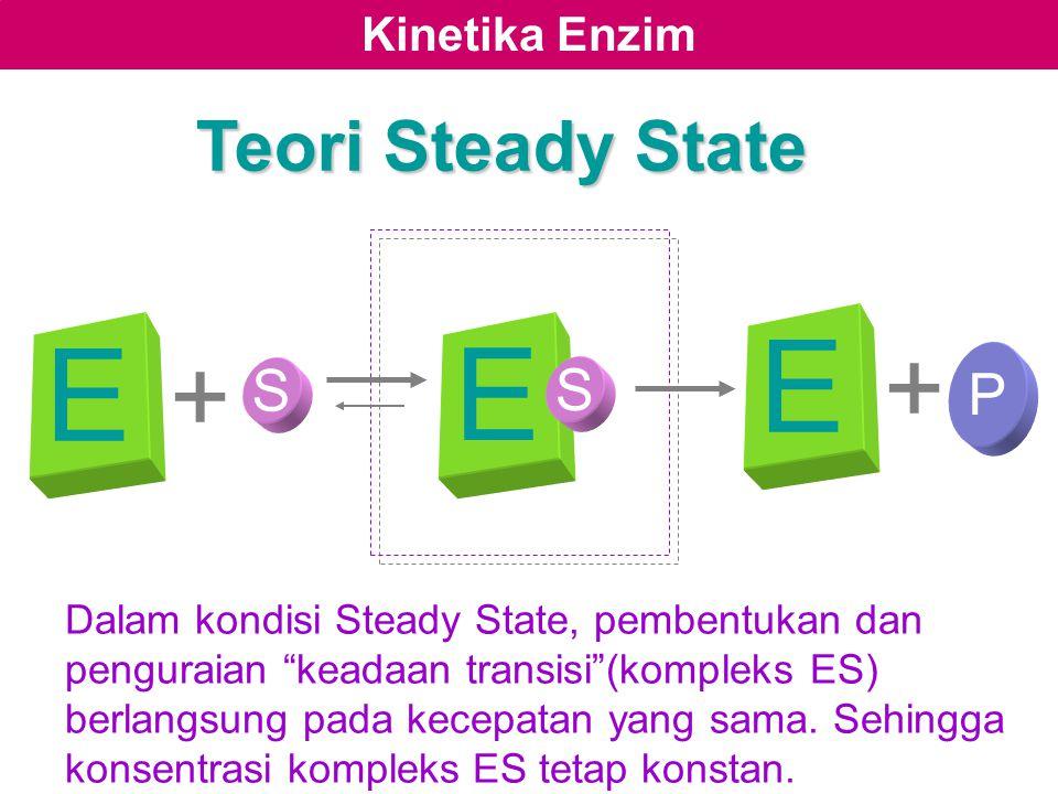 E E E + + Teori Steady State S P S Kinetika Enzim