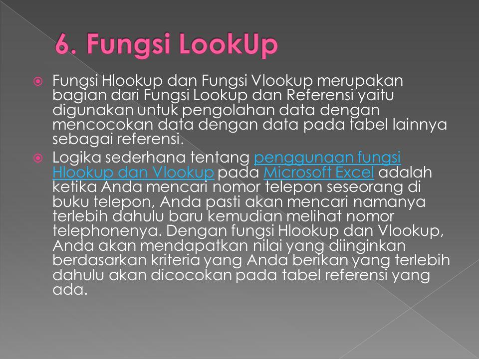 6. Fungsi LookUp