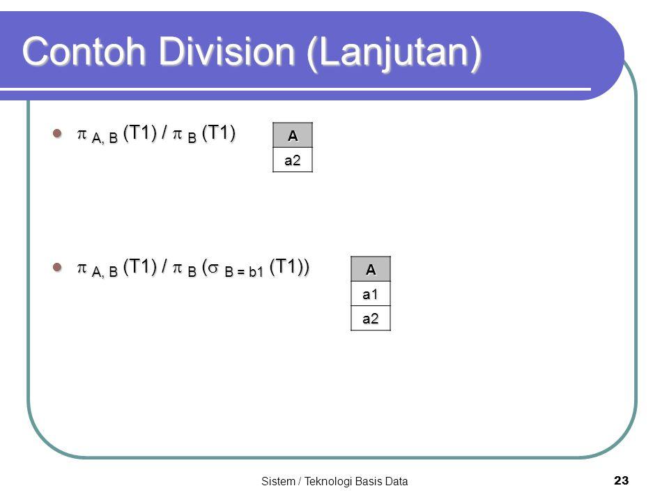 Contoh Division (Lanjutan)