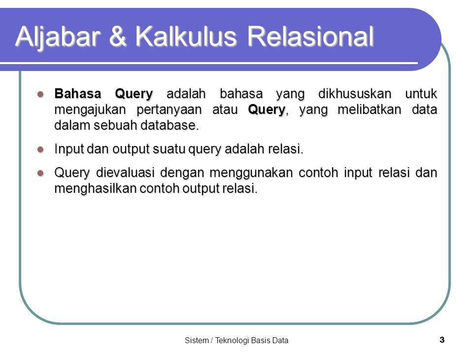 Aljabar & Kalkulus Relasional