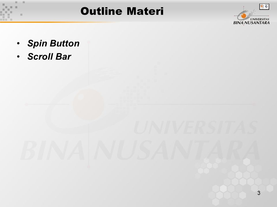 Outline Materi Spin Button Scroll Bar