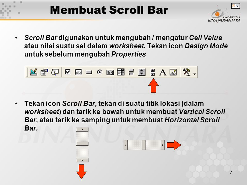 Membuat Scroll Bar