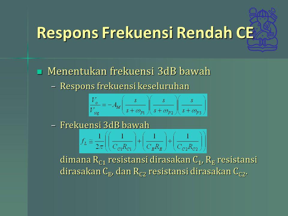 Respons Frekuensi Rendah CE