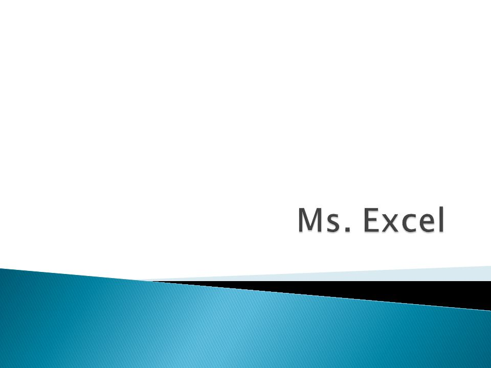 Ms. Excel