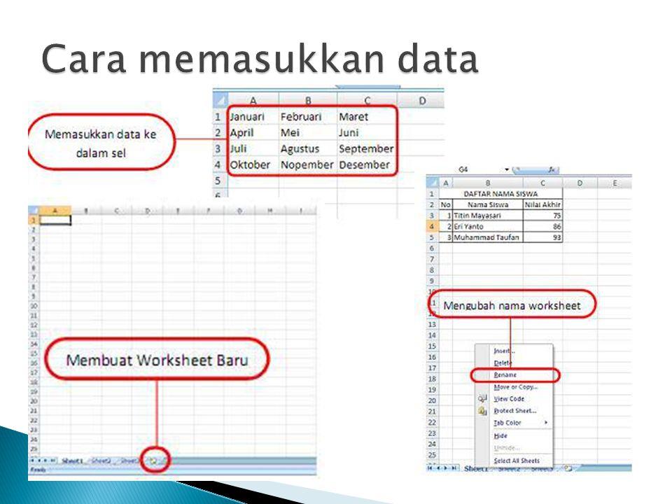 Cara memasukkan data