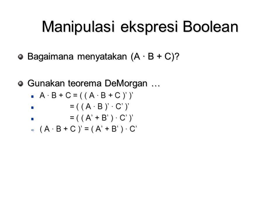 Manipulasi ekspresi Boolean