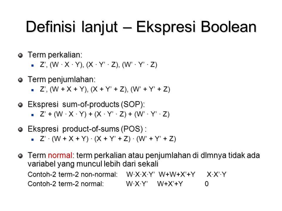 Definisi lanjut – Ekspresi Boolean