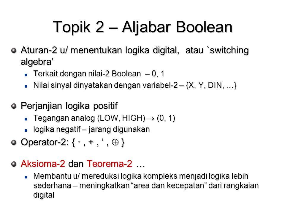 Topik 2 – Aljabar Boolean