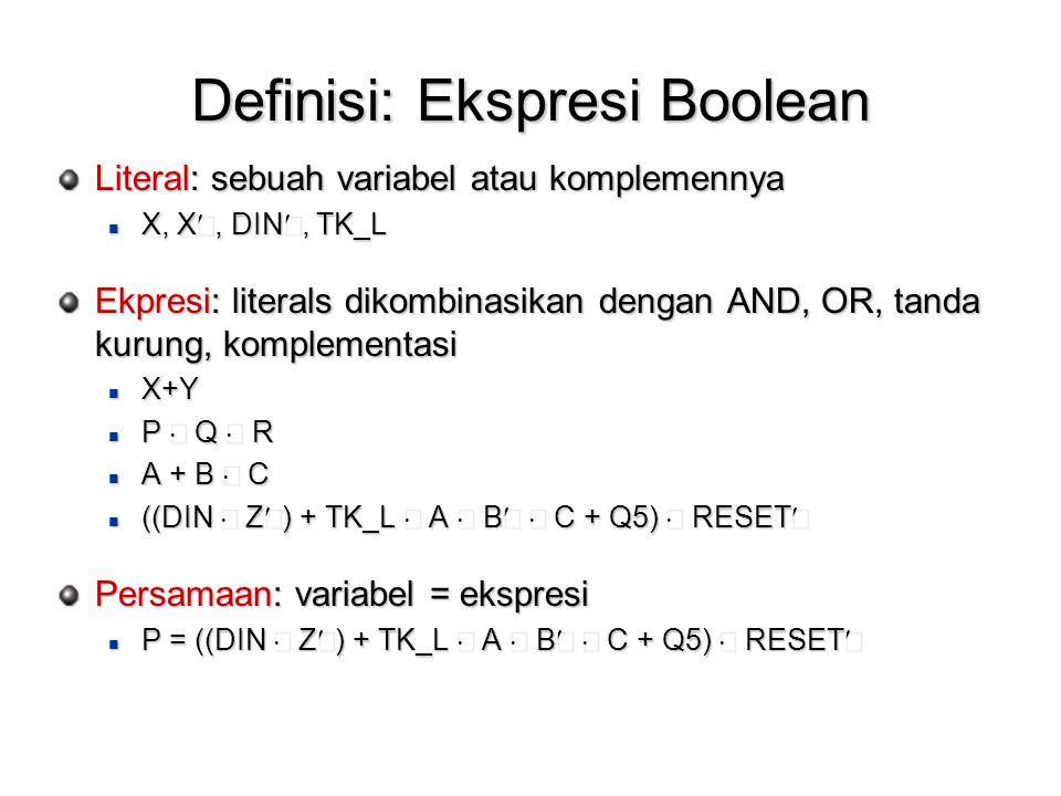 Definisi: Ekspresi Boolean