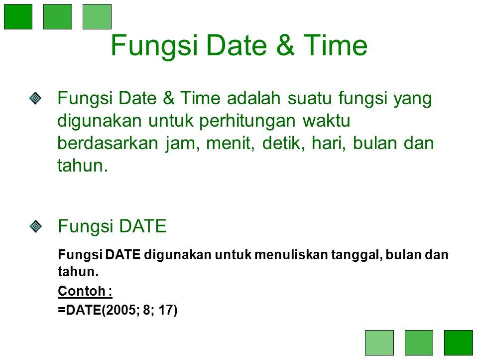Fungsi Date & Time