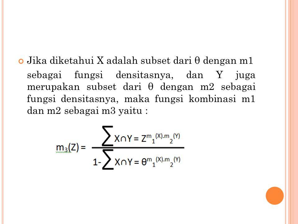 Jika diketahui X adalah subset dari θ dengan m1