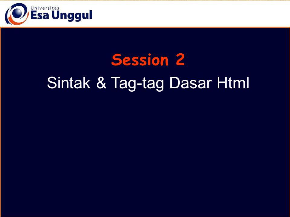 Pemrograman Berbasi Web Session 2