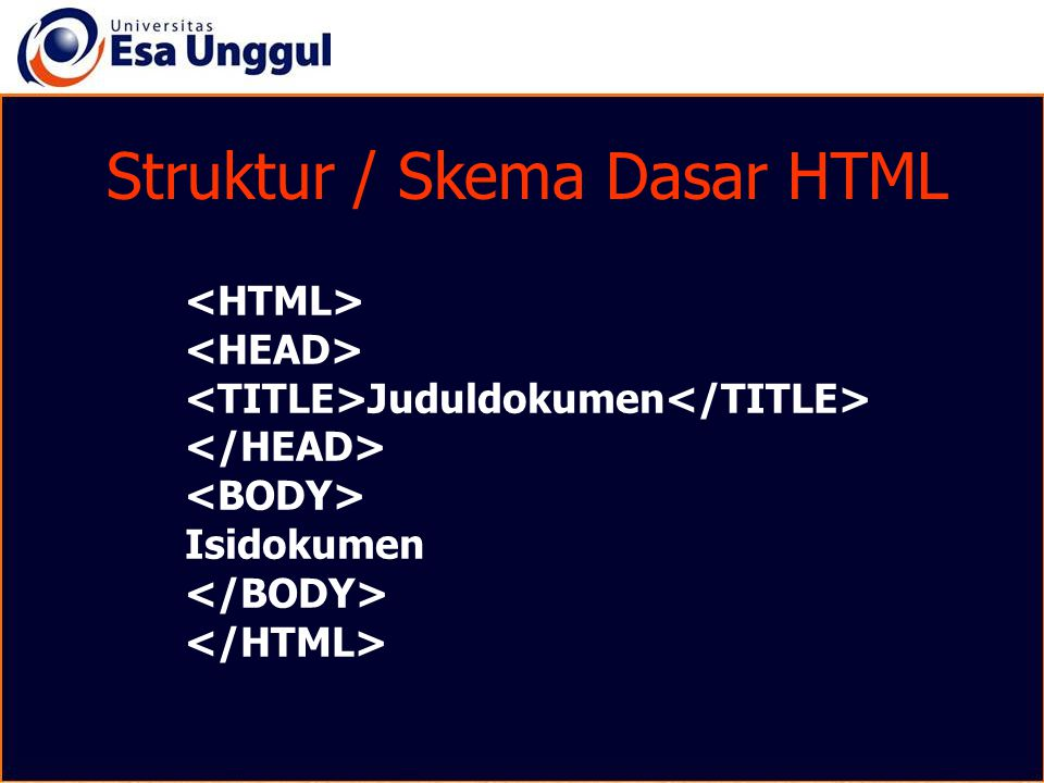 Struktur / Skema Dasar HTML