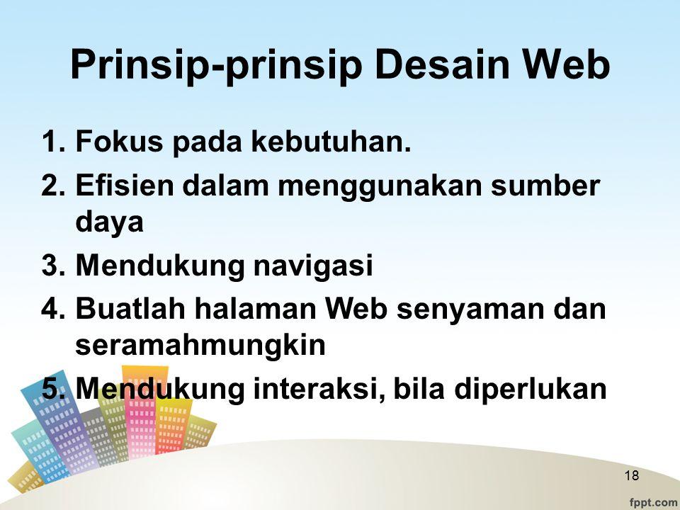 Prinsip-prinsip Desain Web