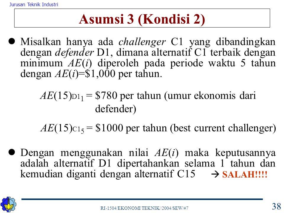 Asumsi 3 (Kondisi 2)